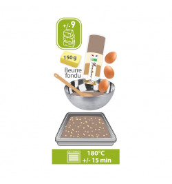 Bocal brownies aux noix - Cadeaux Mirontaine