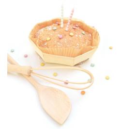 2 moules à  gâteau en bois - Moules Mirontaine