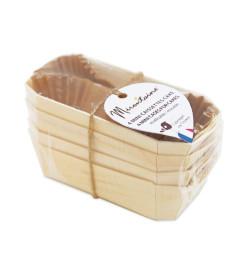 4 mini- caissettes à cake en bois