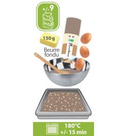 Coffret bois brownies - Fiche recette