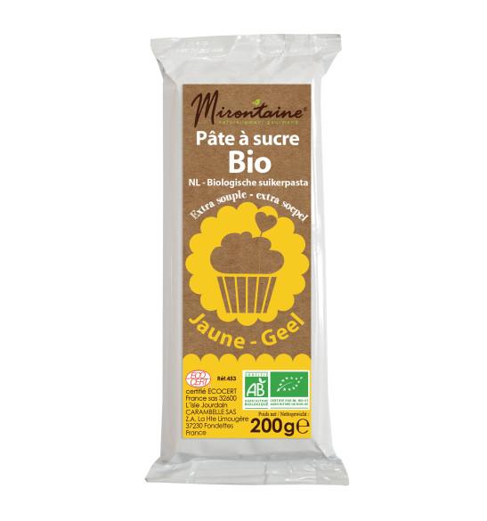 Pâte à sucre BIO jaune 200 g