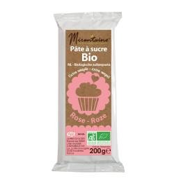 Pâte à sucre BIO rose 200 g