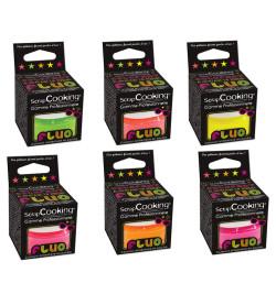 Lot de 6 colorants fluos