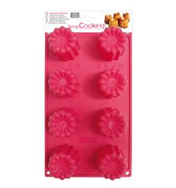 Moule à gâteaux silicone 8 cannelés réf.3131
